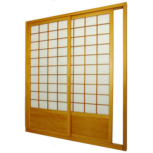 Oriental Furniture 83'' x 73.5'' Single Sided Sliding Door Shoji Room Divider