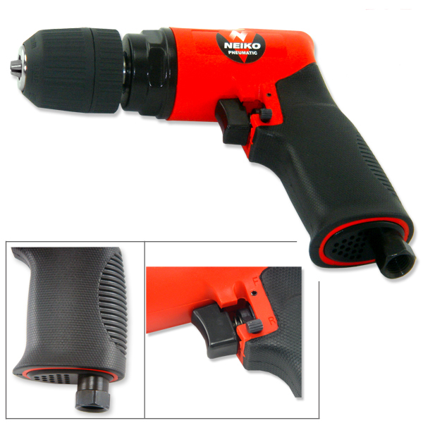 "3/8"" Drive Composite Reversible Air Drill Lightweight Quality Tool"