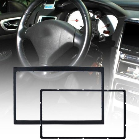 CD Double DIN Car Auto Trim Trace Stereo Radio Kit Fascia Adapter Panel Panel Mount Plate for peugeot 307 - image 5 of 7