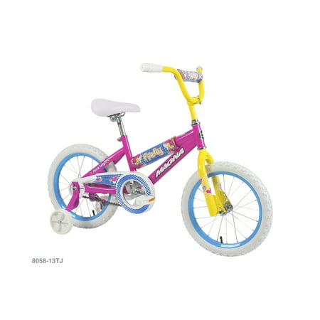 16u0022 Magna Girls Firefly Bike with Handlebar Pad and Adjustable Training Wheels