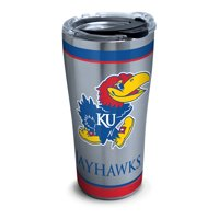 NCAA Kansas Jayhawks Tradition 20 oz Stainless Steel Tumbler with lid