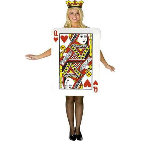 Queen of Hearts Card Adult Halloween Costume - Prom Queen Halloween Costume Uk