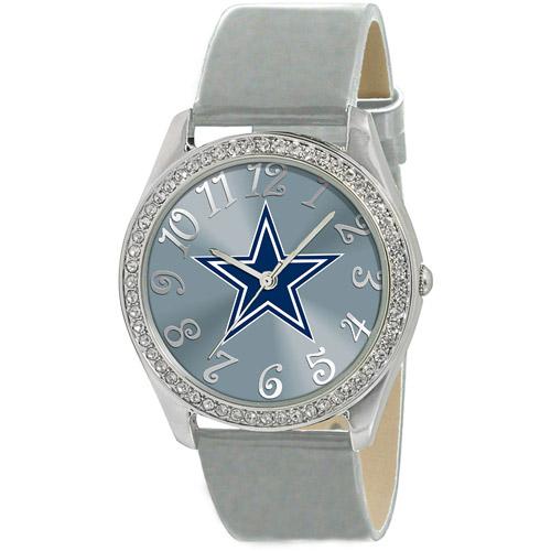 Game Time NFL Women's Dallas Cowboys Glitz Watch, Silver