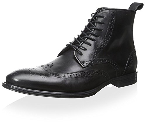 Franklin & Freeman Men's Baker Wingtip Lace-Up Boot, Black, 8 M