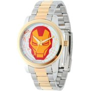 Marvel Iron Man Men's Casual Alloy Watch, Two-Tone Bracelet
