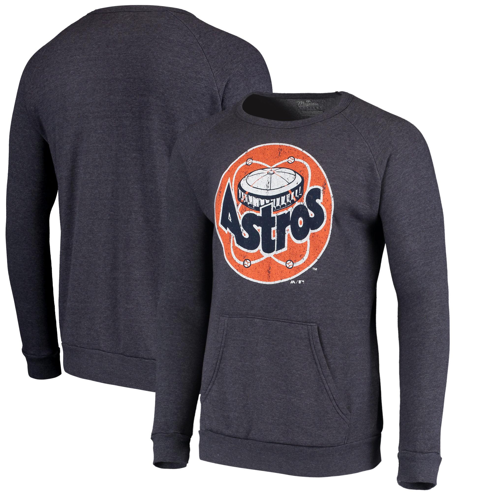 Houston Astros Majestic Threads Cooperstown Collection Tri-Blend Pocket Fleece Sweatshirt - Navy