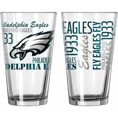 3e8e0263d954 Boelter Brands NFL Set of Two 16 Ounce Spirit Pint Glass Set, Philadelphia  Eagles