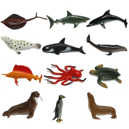 12Pcs Party Class Marine Animals Model Kit Educational Toys for Children (Animal Cell Model Kit)