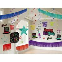 New Years's Giant Jewel Tone Room Decorating Kit
