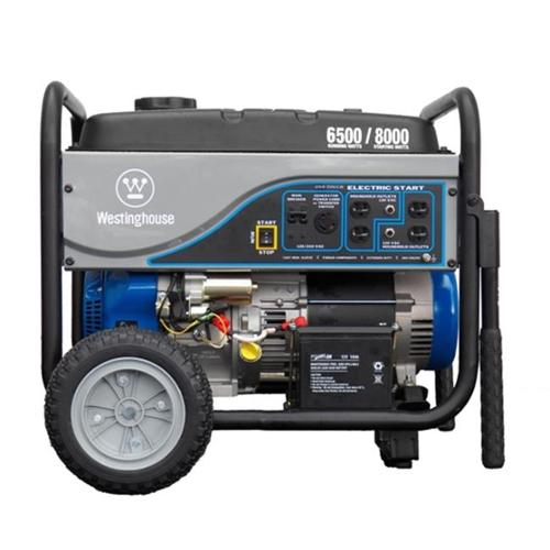 Westinghouse WH6500E Portable Electric Start Gas Generator 6500 Running Watts
