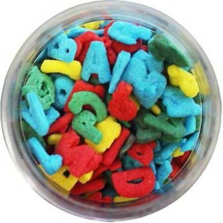Letters Alphabet Edible Sprinkles - 8 oz -National Cake - Edible Letters For Cakes