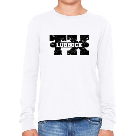 Lubbock, Texas TX Classic City State Sign Girl's Long Sleeve T-Shirt (Party City Lubbock Texas)