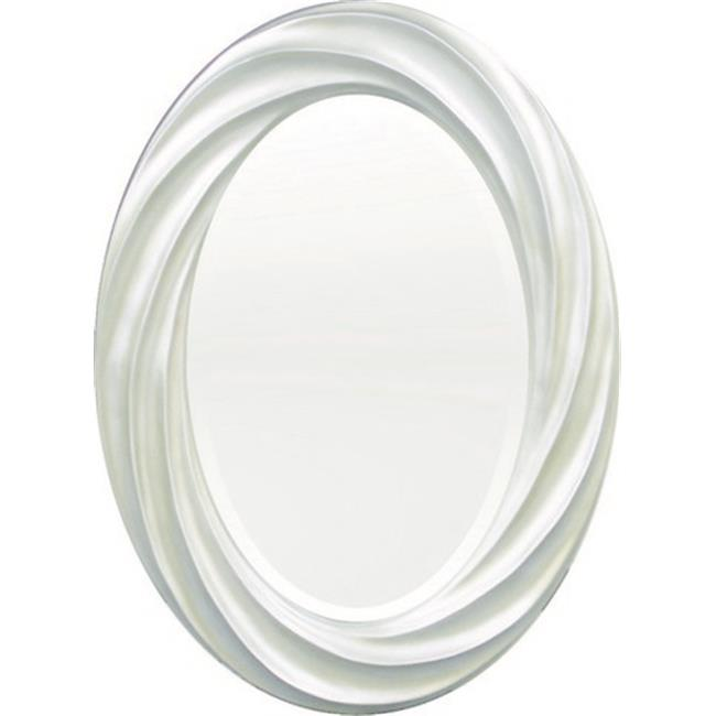 Image of A Art Gallery 3-0231 White Oval Beauty Mirror