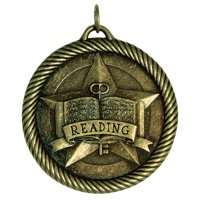 Hammond & Stephens Multi-Level Dovetail/Reading Value Medal, 2 in, Solid Die Cast, Bronze