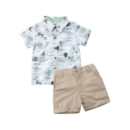 Toddler Kids Baby Boy Tops T-shirt Shorts Pants Gentleman Formal Suit Outfits Summer Fashion Boys Clothes Set ()
