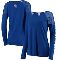 Kansas Jayhawks ZooZatz Women's Kickoff Long Sleeve Mesh T-Shirt - Royal