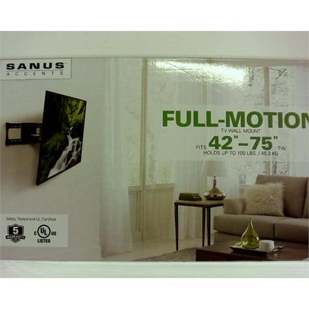 B1 Full Motion Mount - Sanus Large Full Motion TV Mount 42-75 - Black (ALF218-B1)