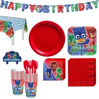 PJ Masks Birthday Party Kit, with Happy Birthday Banner and Candles, Serves 16