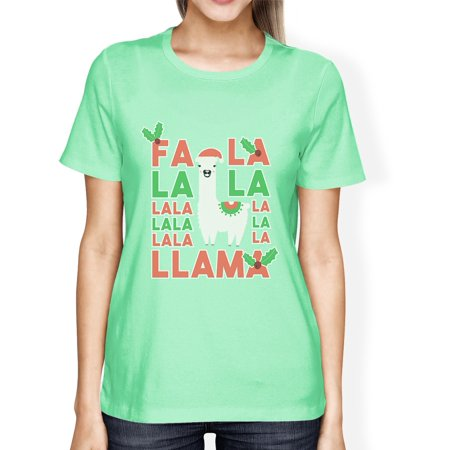 Falala Llama Womens Mint Great Christmas Gifts Tee For - Onsies For Teens