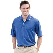Whispering Pines Sportwear 362 100 Percent Performance Poly With Stripe Collar & Placket Shirt, Royal, White, 4XL