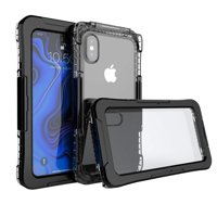 Mignova iPhone Xs Max 6.5 inch case, Full Sealed Waterproof Dust Proof Shockproof Full Body Underwater Cover Case for iPhone Xs Max 6.5 inch case 2019 Release(Black)
