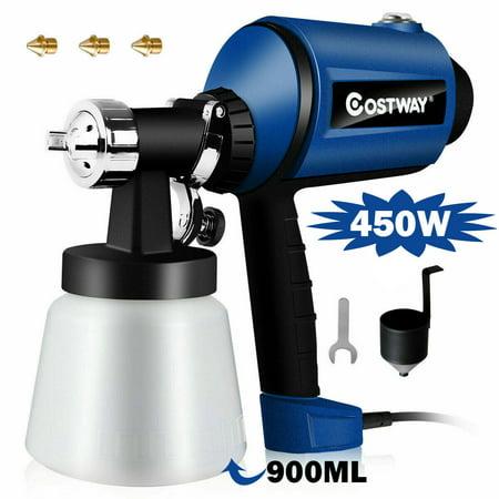 Goplus 450W Electric HVLP Paint Sprayer Handheld 3-ways Spray Gun w/ 3 Copper