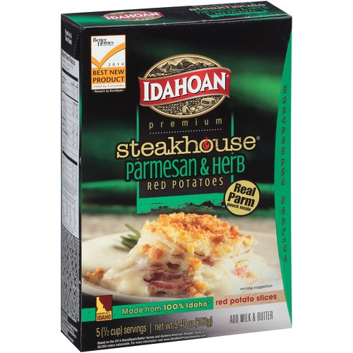 Idahoan Premium Steakhouse Parmesan & Herb Red Potatoes, 5.4 oz