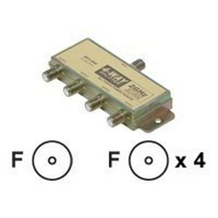 F Connector Splitter - Steren Satellite Splitter - Antenna splitter - F connector (F) - F connector (F) - shielded - 90 dB