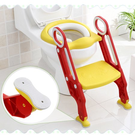 Enjoyable Potty Toilet Trainer Seat With Step Stool Ladder Adjustable Baby Toddler Kid Potty Toilet Seat For Boy And Girl Childrens Toilet Training Seat Chair Creativecarmelina Interior Chair Design Creativecarmelinacom