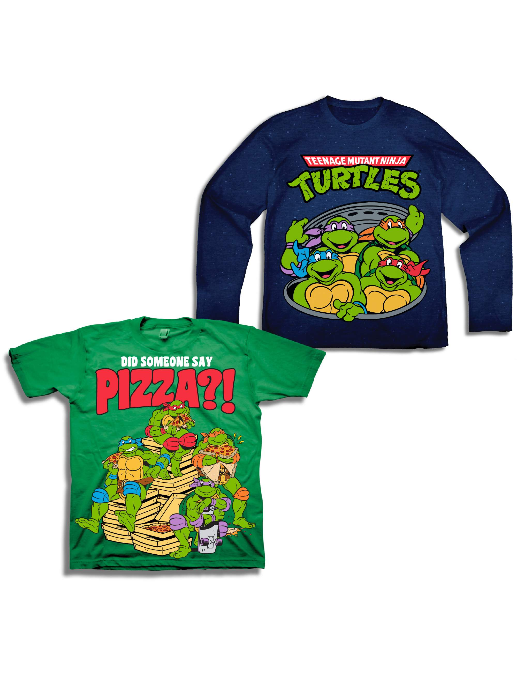 Teenage Mutant Ninja Turtles Long Sleeve T-shirt & Short Sleeve T-shirt, 2-pack (Toddler Boys)