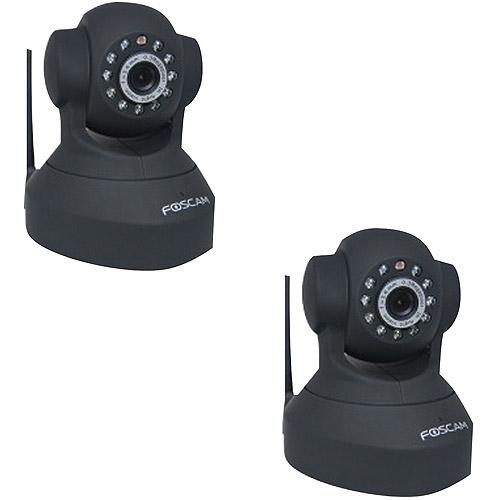 Foscam Fi8918WB Pan and Tilt Wireless IP Camera, 2pk, Black