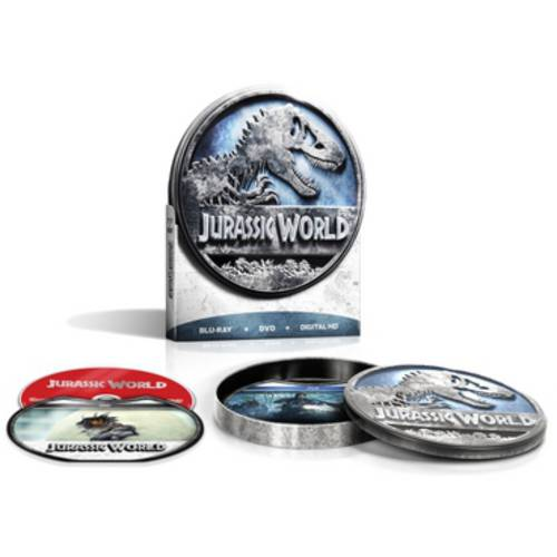 Jurassic World (Blu-ray + DVD + Digital HD) (Collectible Round Tin) (With INSTAWATCH)