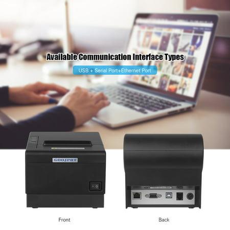 GOOJPRT JP-80DC Desktop Imprimante Themal Papier d?impression thermique 80 mm Fonction de coupe du papier automatique Imprimantes de reçus Interface de communication multiple Port pour alimentation Po - image 3 of 7