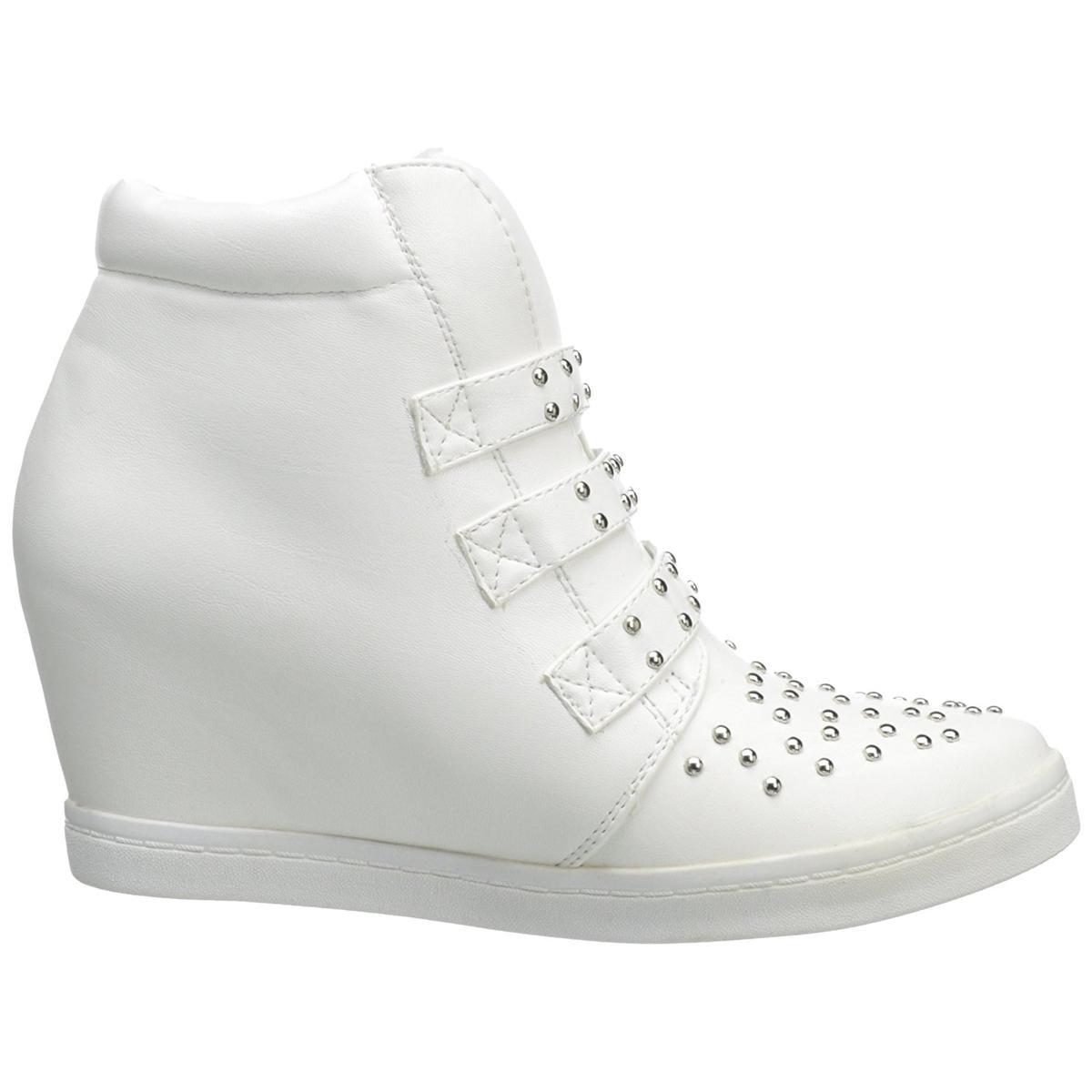 N.Y.L.A Women's Buckley White Wedge Fashion Sneakers