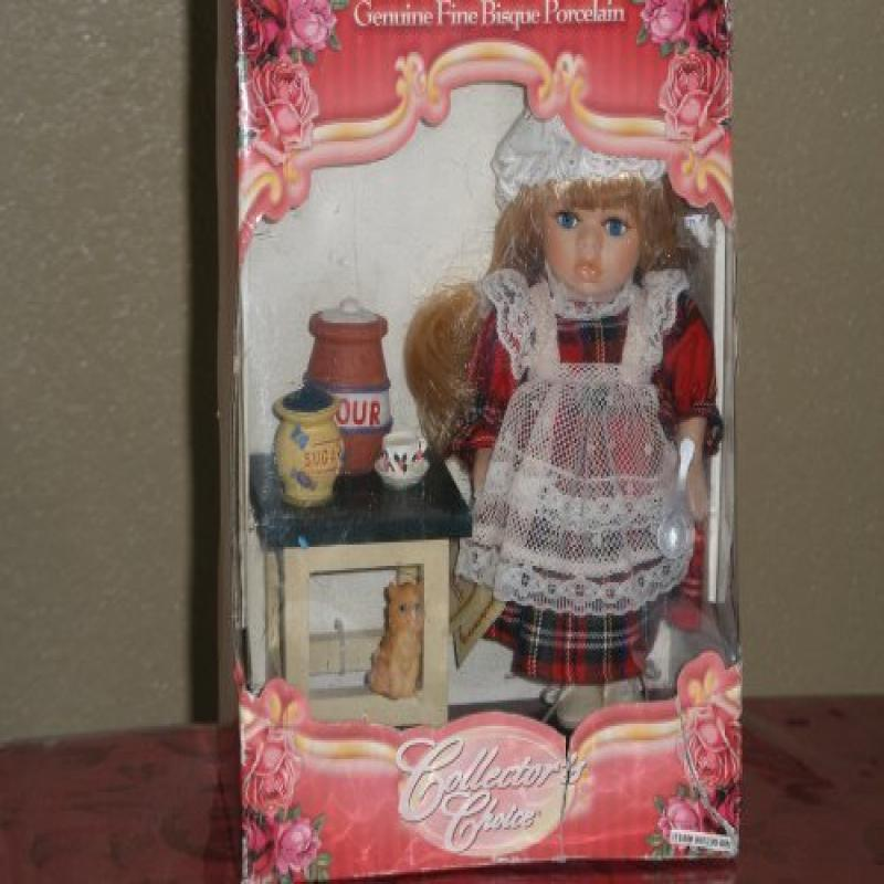 Collectors Choice-Genuine Fine Bisque Porcelain Doll in K...