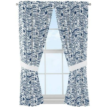 NFL Dallas Cowboys Anthem Window Curtain Panels