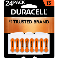 Duracell Hearing Aid Batteries with Easy-Fit Tab, Size 13, 24 Pack