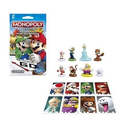 Parker Brothers Monopoly Rules - Bundle of All 8 Monopoly Gamer Edition Power Pack Pieces Complete Set