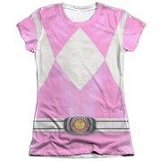 Mighty Morphin Power Rangers Pink Ranger (Front Back Print) Juniors Shirt