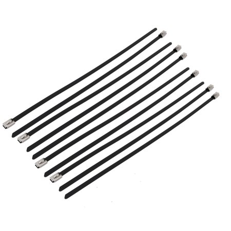 10pcs 5.6mm Width 300mm Length Stainless Steel Cable Tie