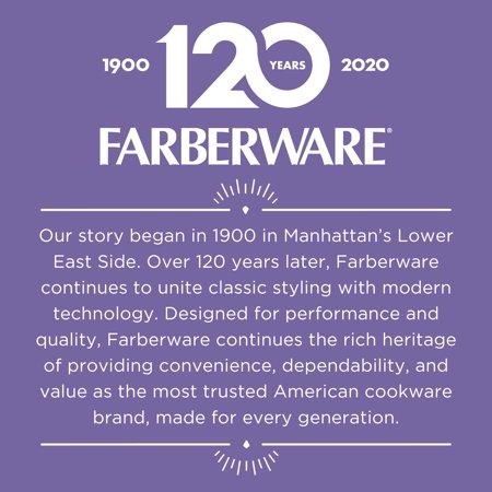 Farberware 11-Inch Aluminum Non-Stick Square Griddle, Black