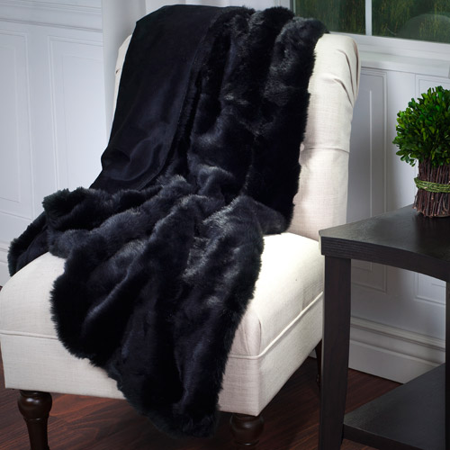 Somerset Home Luxury Long Haired Faux Fur Throw