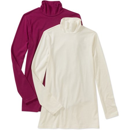 White Stag Women 39 S Mock Turtleneck Long Sleeve T Shirt 2