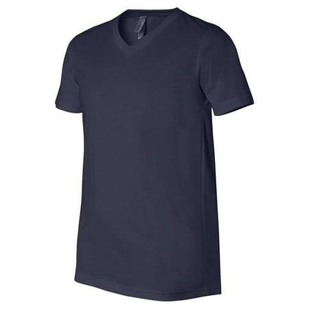 Bella + Canvas Jersey Short-Sleeve V-Neck T-Shirt (3005) Navy, 3XL Solid Unisex T-shirt