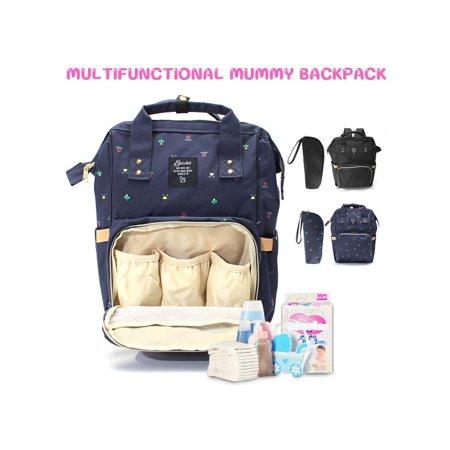 Multifunctional Mummy Canvas Maternity Ny Diaper Bag Large Capacity Baby Organizer Backpack Bottle Sleeve