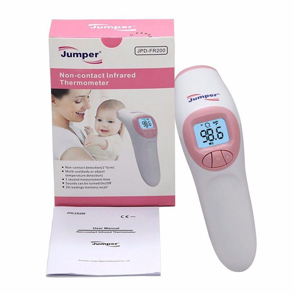 Jumper Digital Baby Thermometer With Instant Reading, Fever Alarm, Non-Contact Thermometer For Baby, Adults and Object
