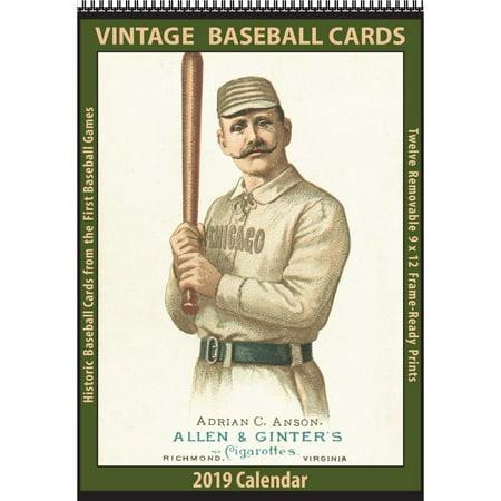 2019 Baseball Cards Vintage 2019 Wall Calendar, More Baseball by Asgard Press