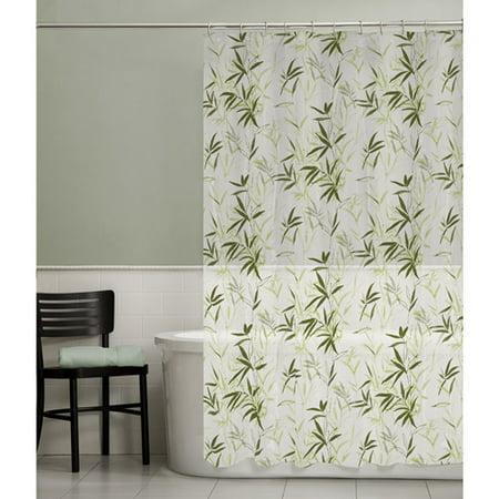 Maytex Zen Garden PEVA Vinyl Shower Curtain Green