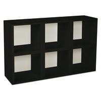 Way Basics Eco Stackable Modular Storage Cubes, Black, 6-Pack