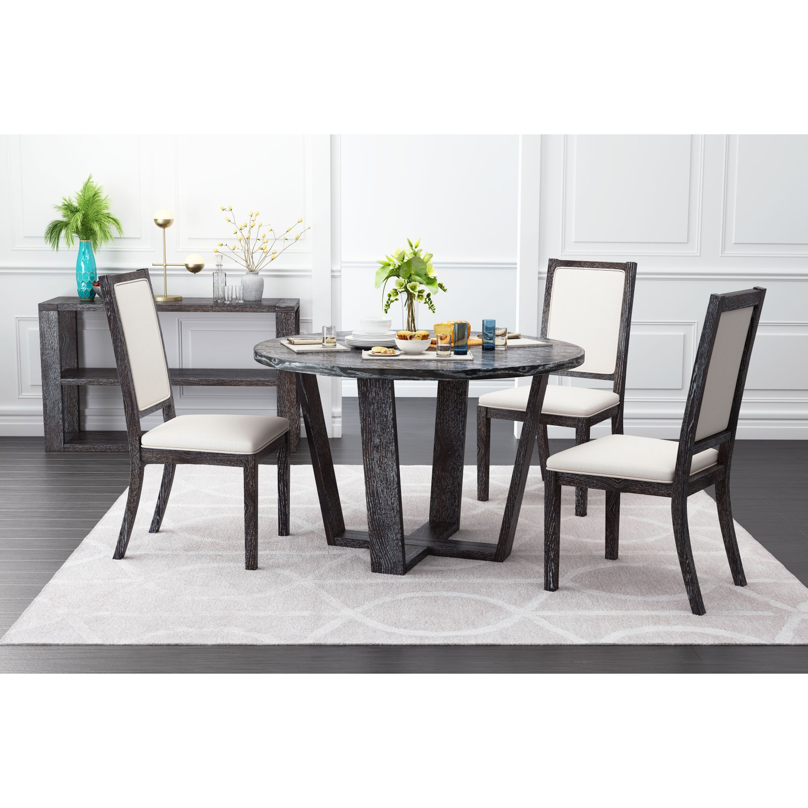Zuo Modern Contemporary Skyline Round Dining Table
